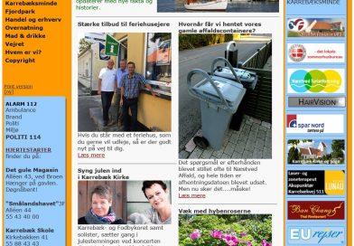Nyt design på hjemmesiden