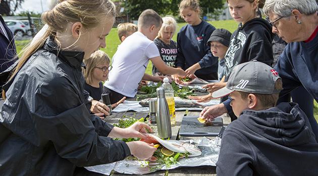 Vildmarksmad på 4H-Gården i Karrebæk
